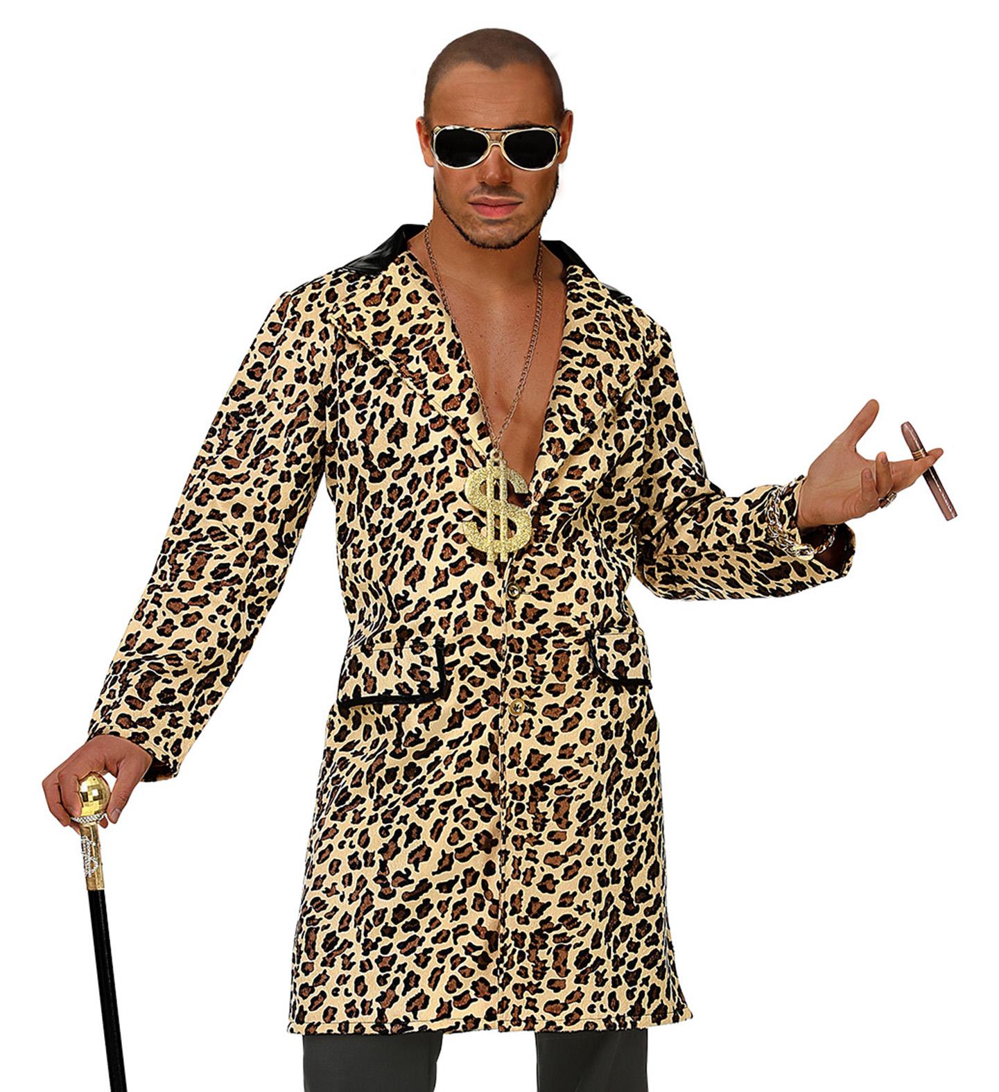 cfc5a733258e Details about Mens Male Leopard Print Pimp Suit Fancy Dress Costume Outfit  M/L