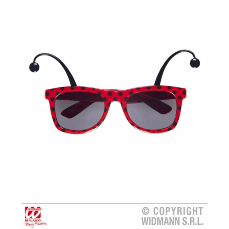 Ladybird Sunglasses With Antennas Novelty Glasses Ladybug Fancy Dress Accessory