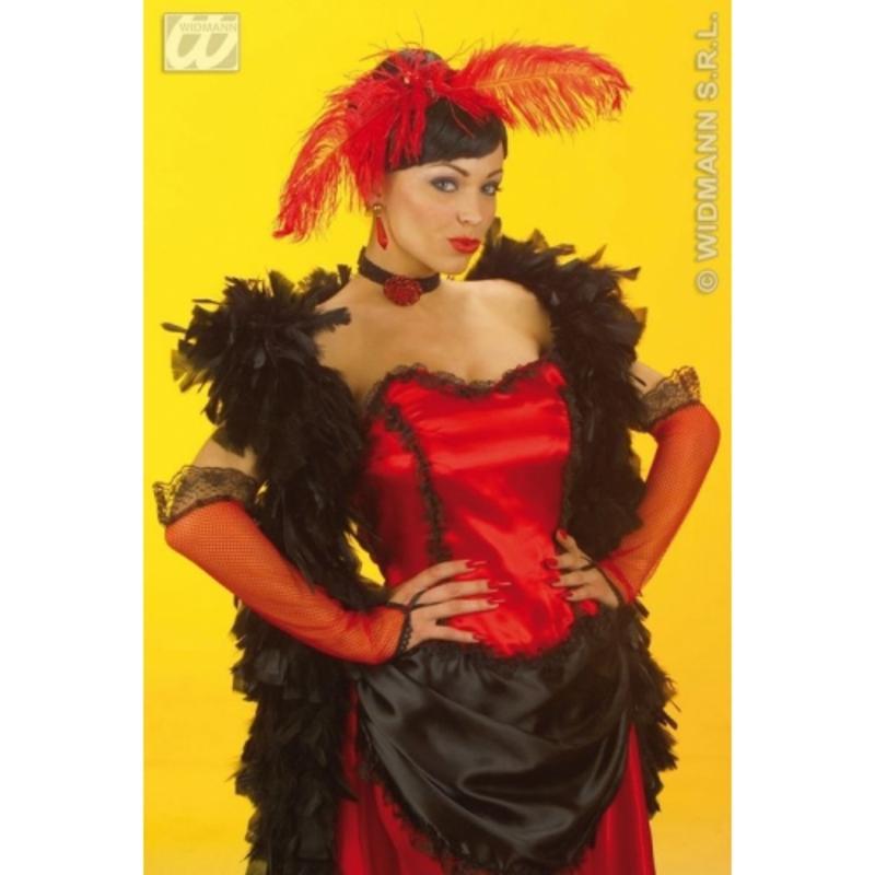 33cm Long Red Saloon Girl Western Fancy Dress Costume Accessory