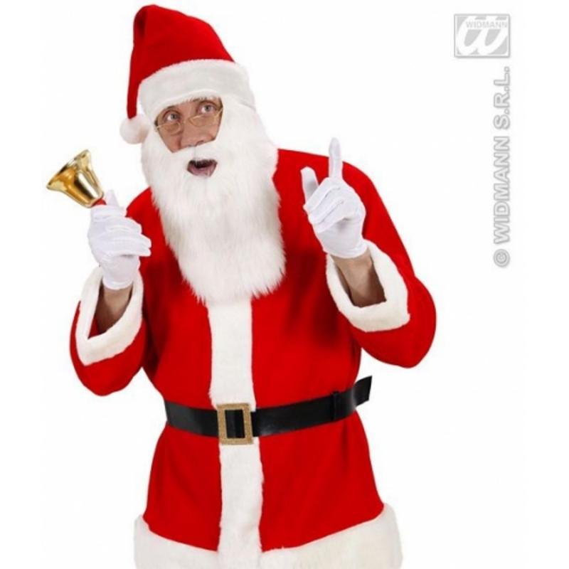 Plush Fluffy Santa Claus Hat & Beard Father Christmas Fancy Dress Costume Prop