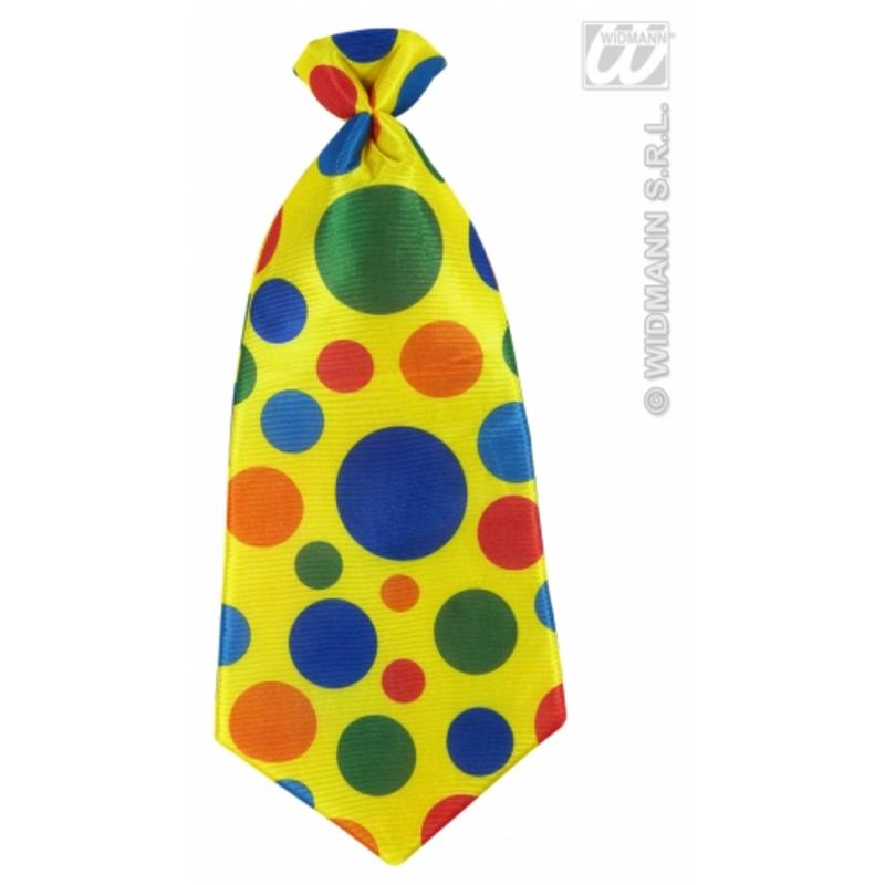 Multi Colour Clown Tie Circus Halloween Fancy Dress Accessory