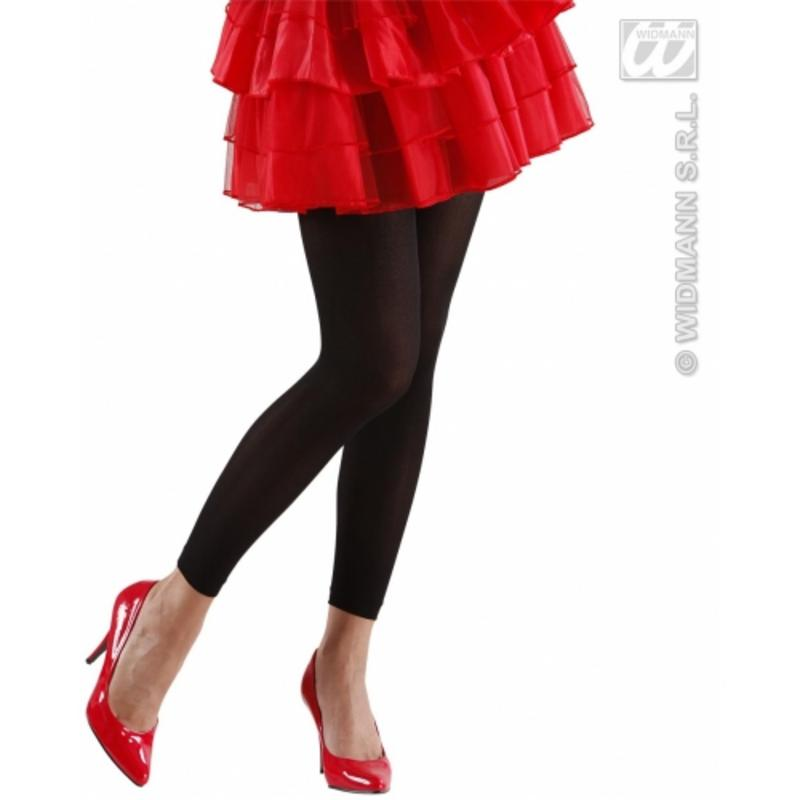 Ladies Black Leggings 70 Den Nu Rave Halloween Fancy Dress Accessory