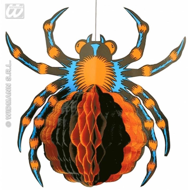 Neon Orange Spider Prop 30Cm Spooky Halloween Insect Fancy Dress Decoration