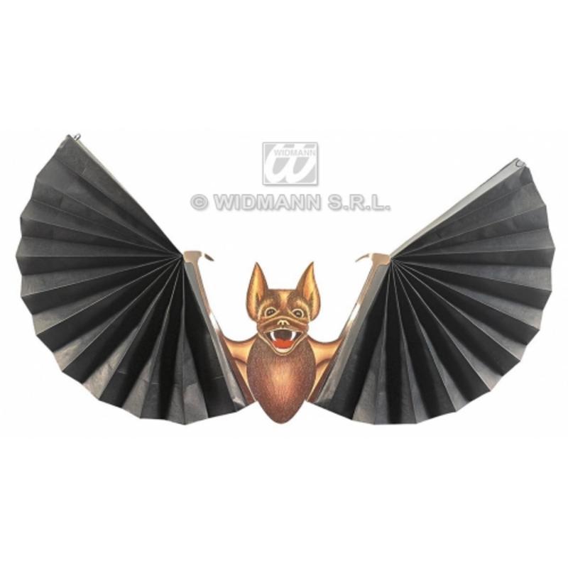 Paper Bat Prop Paper With Fan Wings Vampire Halloween Fancy Dress Decoration