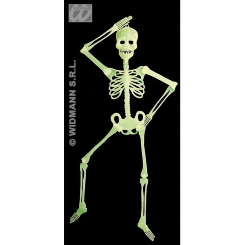3D Glow In Dark Skeleton 90Cm Spooky Halloween Party Fancy Dress Prop