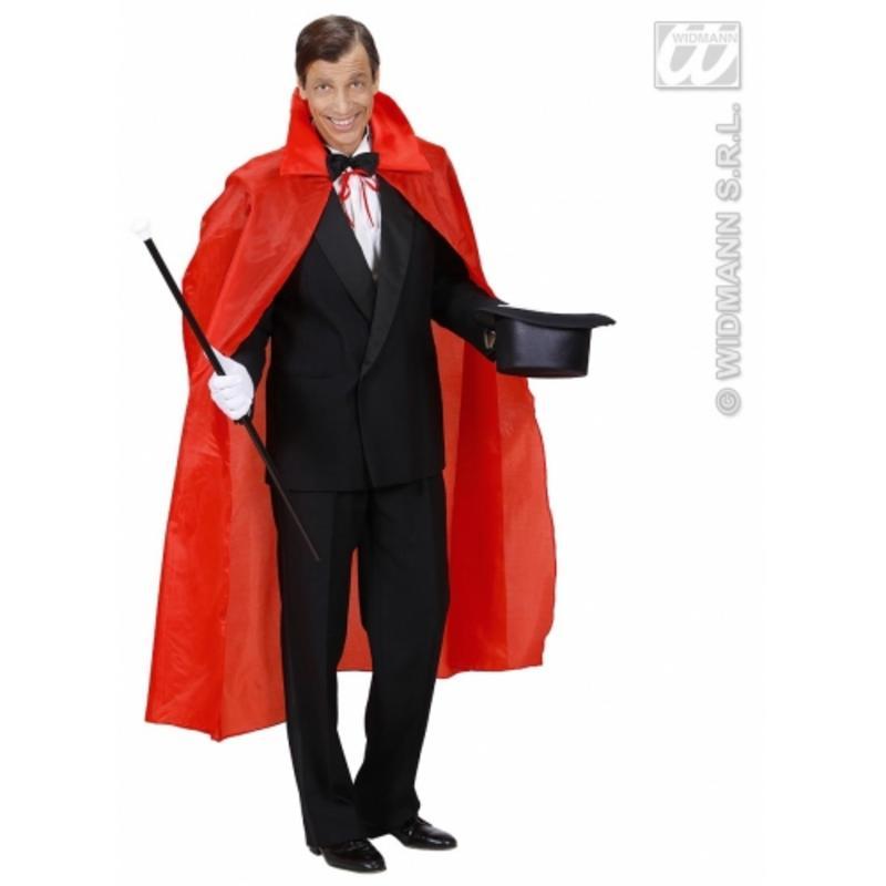 Long Red Cape 130cm - Halloween Dracula Devil Elvis Presley Fancy Dress Prop