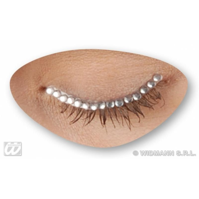 Diamond Diamonte Eyelids Eyelashes Fancy Dress Costume Accessory