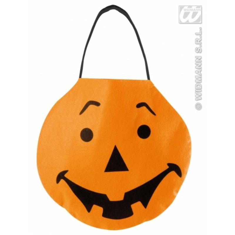 Orange Pumpkin Felt Bag Trick Or Treat Halloween Fancy Dress Accessory