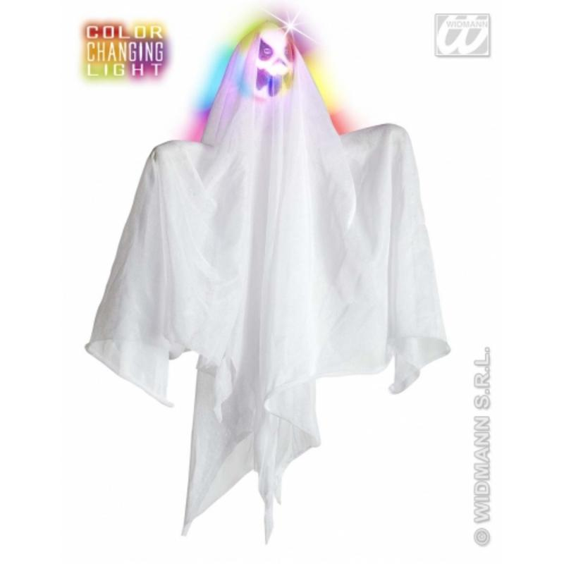 Colour Changing Hanging Ghost 50cm Halloween Fancy Dress Party Decoration