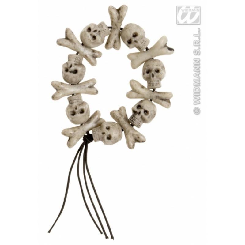 Skulls & Cross Bones Bracelet Gothic Halloween Fancy Dress Accessory