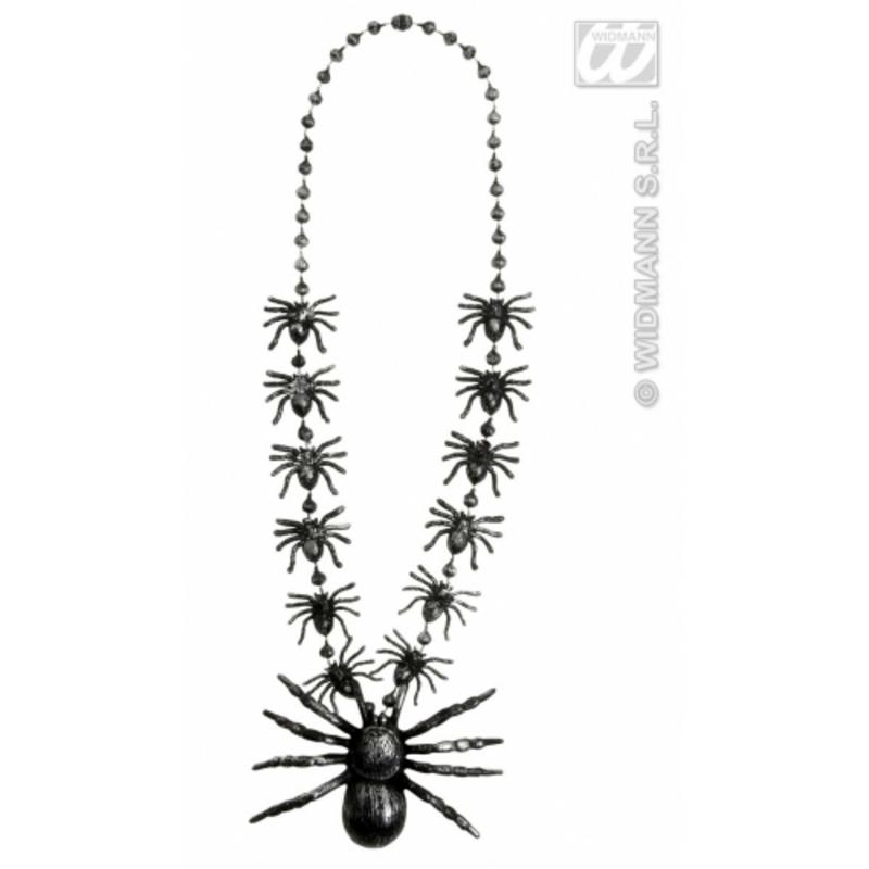 Spider Necklace 40Cm Gothic Halloween Witch Fancy Dress Accessory