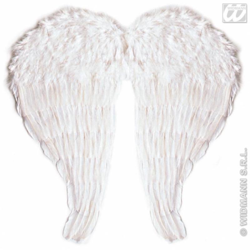 White Feather Angel Fairy Wings 51cm x 46cm /& Bendable Fancy Dress Accessory