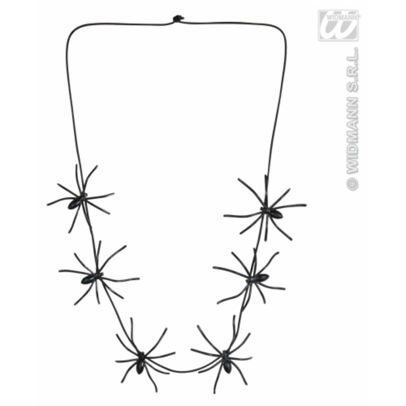Spider Necklace 60cm Long Halloween Witch Fancy Dress Costume Accessory