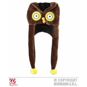 Adult Brown Owl Trapper Novelty Winter Hat Woodland Festival Fancy Dress