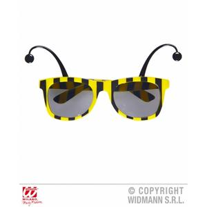 Bumble Bee Sunglasses With Antennas Novelty Glasses Wasp Fancy Dress Accessory