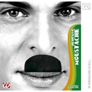 Black Charlie Chaplin Fancy Dress Moustache Facial Hair Hitler Blakey Style