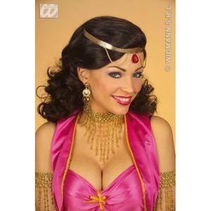 Ladies Gold Beaded Choker Necklace Flapper 20s Charleston Fancy Dress