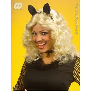 Black Clip On Cats Whiskers Pussy Cat Witches Halloween Fancy Dress