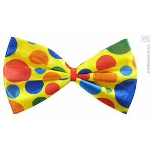 Multi Colour Clown Bow Tie Circus Halloween Fancy Dress Accessory