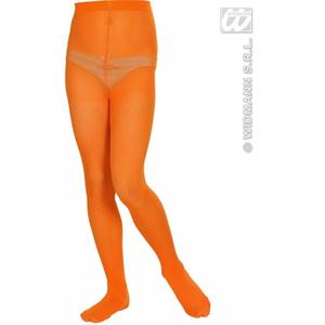 Childrens Orange Tights 4-6 Yrs Pumpkin Halloween Fancy Dress Accessory