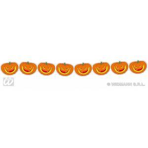 Orange Pumpkin Bunting Garland 3m Long Halloween Party Decoration