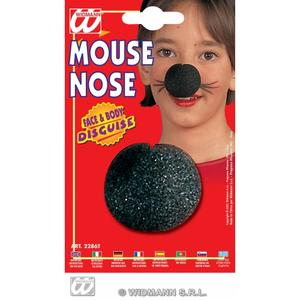 Large Black Sponge Mouse Nose Mickey Minnie Rodent Fancy Dress Accessory