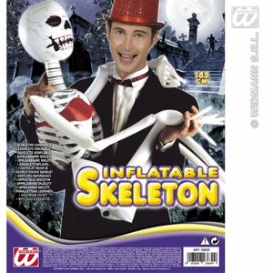 Inflatable Skeleton 183Cm Spooky Halloween Party Fancy Dress Prop
