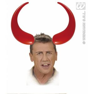 Large Inflatable Red Devil Demon Horns Halloween Fancy Dress Prop