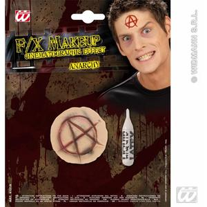 Anarchy Anarchist Flesh Wound Fake Scar Halloween Make Up Fancy Dress