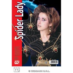 Goth Spider Witch Fancy Dress Costume Jewellery Set Kit Necklace & Earrings