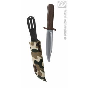 Rambo Dagger Toy Camouflage Sheath Holder Army Fancy Dress Prop Weapon