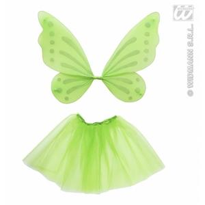Childrens Fairy Wings And Tutu Set Tinkerbell Pixie Fancy Dress Accessory