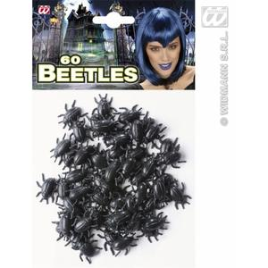 60 Beetles Set Creepy Crawly Insect Halloween Fancy Dress Accessory