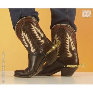 Gold Spurs Wild West Cowboy John Wayne Fancy Dress Accessory