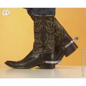Silver Spurs Wild West Cowboy John Wayne Fancy Dress Accessory