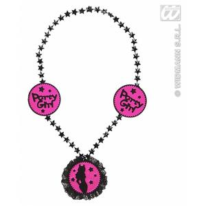 Pink Party Girl Necklace Hen Night Party Fancy Dress Prop Accessory