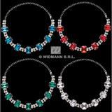 Deluxe Choker With Strass & Gems Disco Diva Fancy Dress Jewellery