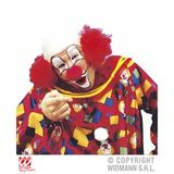 Bald Headpiece With Red Curly Hair Clown Circus Halloween Fancy Dress Wig