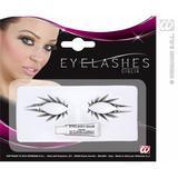 Black Fake Eyelashes Upper & Lower Halloween Fancy Dress Make Up Accessory