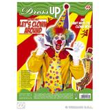Clown Set Hat Tie And Nose Circus Halloween Fancy Dress Accessory