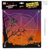 Glow In Dark Spider Web With Suction Spooky Halloween Fancy Dress Prop