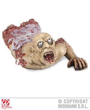 Bloody Crawling Zombie Bust 72Cm Body Part Halloween Fancy Dress Decoration Prop