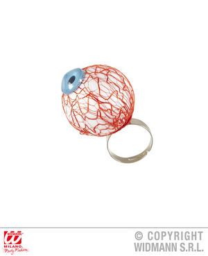 Eyeball Ring False Eye Zombie Witch Halloween Fancy Dress Jewellery Accessory