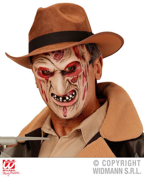 Childs Burned Face Killer Half Face Mask Freddy Halloween Fancy Dress Accessory