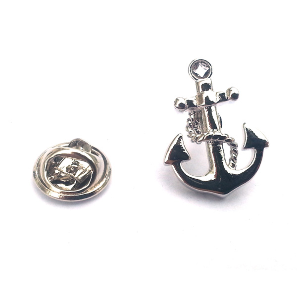 Sentinel Silver Anchor Lapel Pin Pin Back Badge Boat Sailor Navy Sea Ship  Seaman Gift New