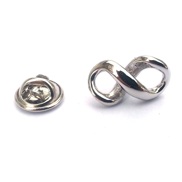Silver Infinity Symbol Lapel Pin Pin Back Badge Forever Meaningful
