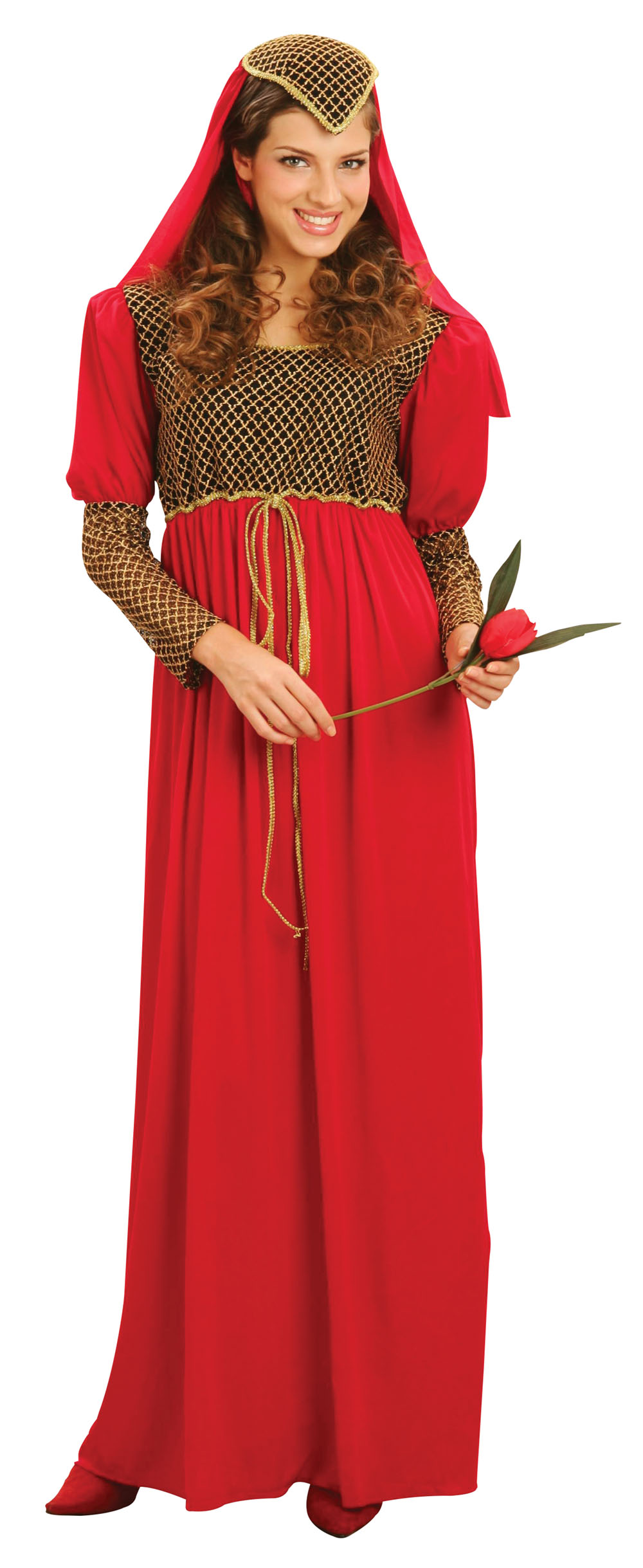 Ladies Historic Juliette Fancy Dress Costume Womens Renaissance Outfit UK 18-22