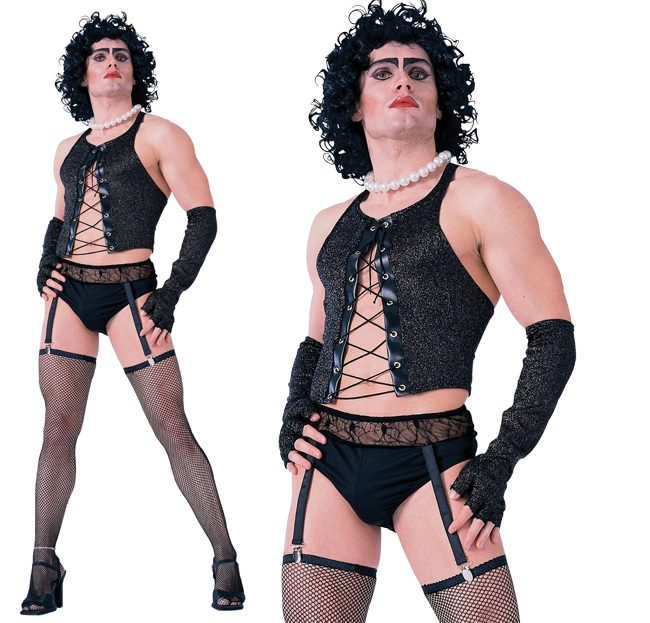 Adult Frank N Furter Fancy Dress Costume Rock Horror Show Outfit