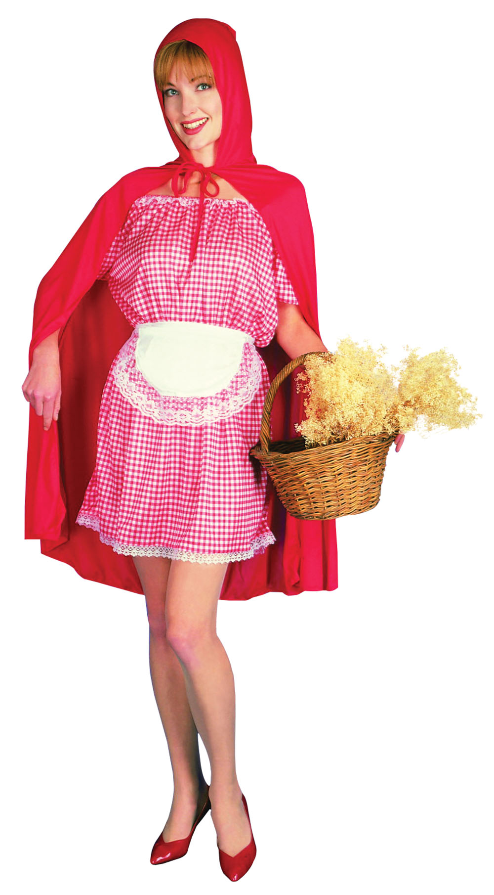 Ladies Little Red Riding Hood Fancy Dress Costume Childrens Fairytale Outfit UK 10-14