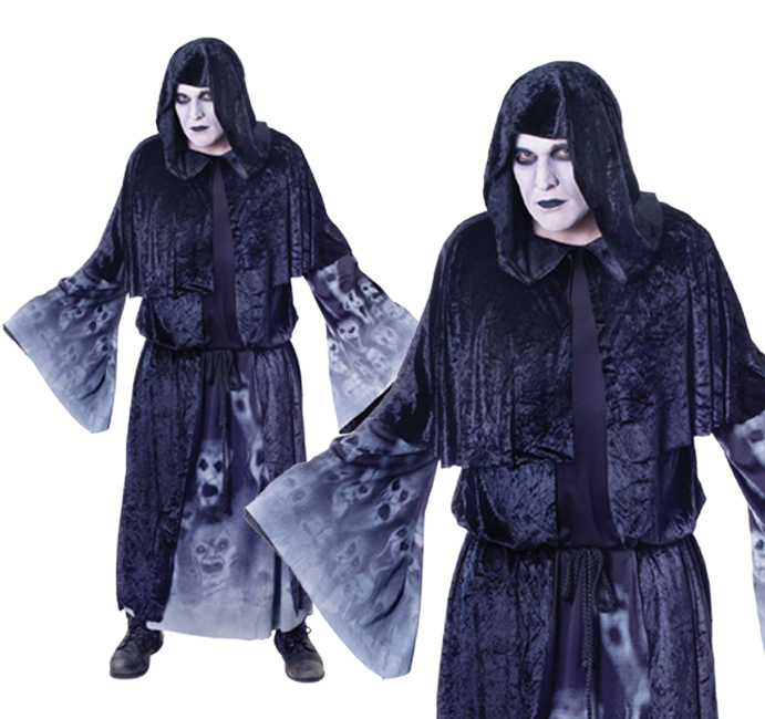 Mens Forgotten Souls Halloween Fancy Dress Costume Grim Reaper Outfit